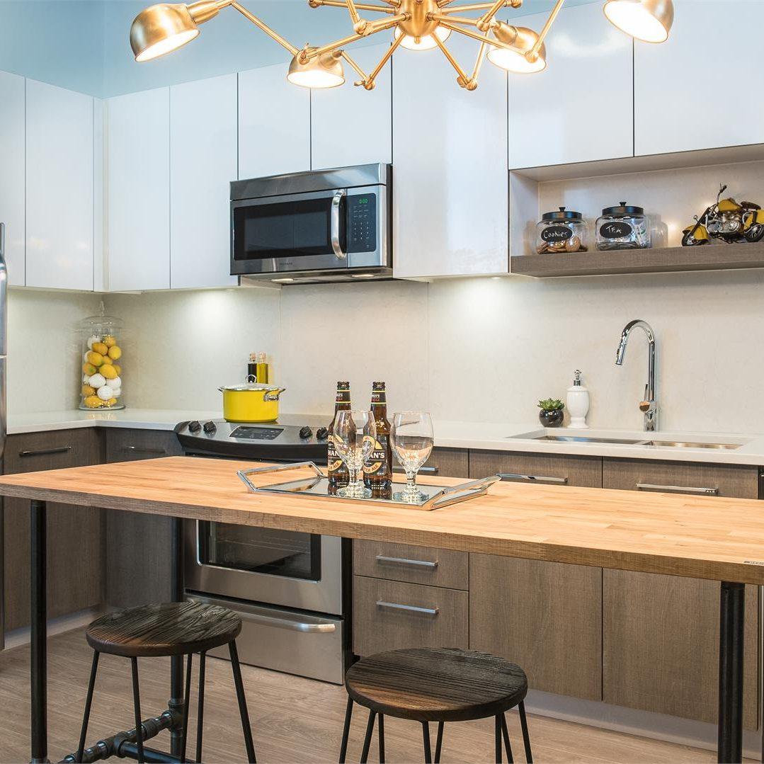 Venue kitchen cabinets